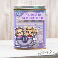This project uses the Life's a Ride set, Teacup Washi and A Day in the Park Paper Pack from Kindred Stamps. Check out my blog for more details on how I made this project!