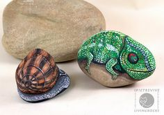 unusual painte rock pictures | and/or hate cleaning a litter box? Why not try a rock cat? Cat rock ...