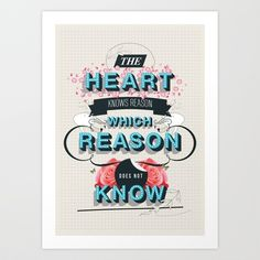 The Reason Art Print by Kavan & Co