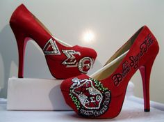 DELTA SIGMA THETA Custom Made Greek Sorority Heels All Sizes I want to get these for my mom