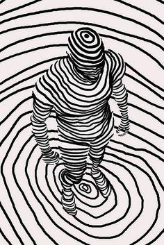 Bonito arte de línea - Cute line drawing