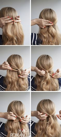 Hair Romance - Half ponytail hair style tutorial