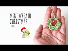 Tutorial Mini Christmas Wreath Crochet