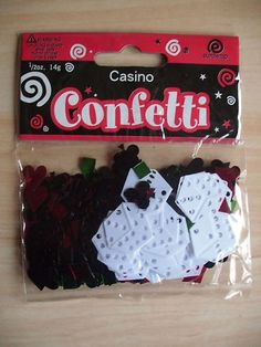 CASINO CONFETTI / TABLE/ENVELOPE DECOR ~ NOW 99p | eBay