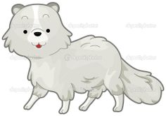 arctic fox clip art | arctic fox — Stock Vector © Lorelyn Medina #3946473