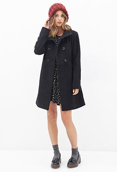 Stand Collar Swing Coat | Forever21 - 2000060233