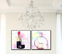 Chanel Lipstick Chanel Perfume Fashion Illustration Wall Art, Fashion Art Wood Block Set, Fashion Decor by trolleyla on Etsy https://www.etsy.com/listing/218660609/chanel-lipstick-chanel-perfume-fashion