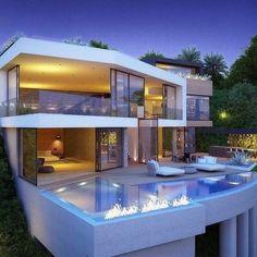 Superbe Piscines, Future Maison, Idées Pour La Maison, Villa De Luxe, Immeuble,