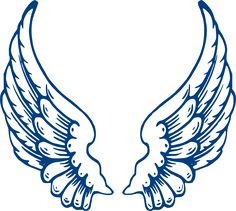 Bbb Angel Wings clip art - vector clip art online, royalty free ...