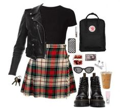 Best Vintage Outfits Part 15 Hipster Outfits, Plaid Outfits, Edgy Outfits, Grunge Outfits, Cute Outfits, Grunge Party Outfit, Grunge Clothes, Clueless Outfits, Grunge Dress