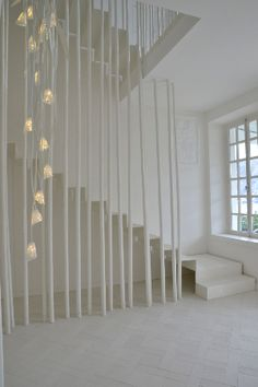 Andrea Salvetti hall way Stairs Architecture, Beautiful Architecture, Interior Architecture, Interior Design, Staircase Design, Stair Design, Beautiful Stairs, Home Decoracion, Interior Stairs
