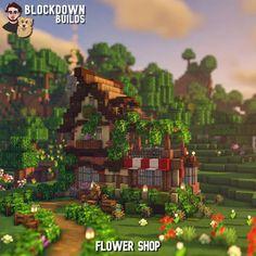 Casa Medieval Minecraft, Minecraft Shops, Minecraft Castle, Cute Minecraft Houses, Minecraft Room, Minecraft Plans, Minecraft House Designs, Amazing Minecraft, Minecraft Tutorial
