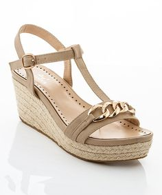 Look at this Beige Chain Jude Espadrille on #zulily today!