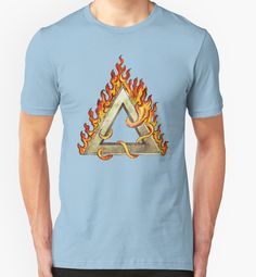 """""""Divine Triangle on Flames"""" T-Shirts & Hoodies by Lidra 