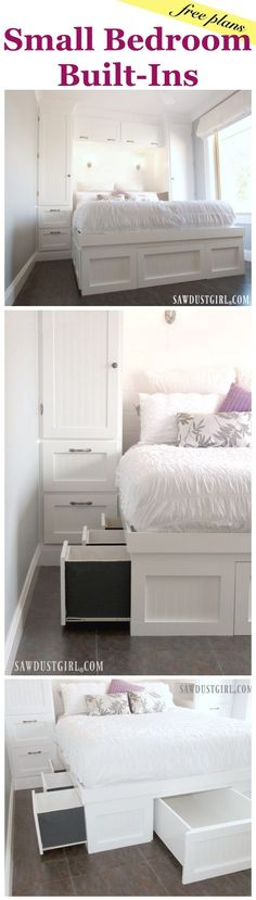 Platform Storage Bed and Wardrobes - free plans!