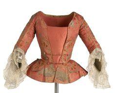 Jacket, ca. 1740-1750, metal, cotton, linen, silk: Casaca, 1740[ca]-1750[ca], metal, algodón, lino, seda