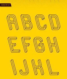 Elke letter is een optische illusie