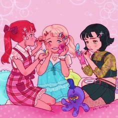Powerpuff Girls Cartoon, Powerpuff Girls Wallpaper, Kawaii Drawings, Cute Drawings, Super Nana, Art Noir, Arte Do Kawaii, Cute Art Styles, Ppg And Rrb