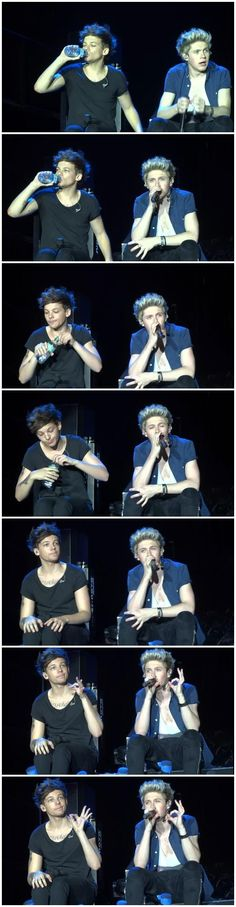 Louis & Niall during Over Again.