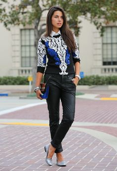 Stylish Combinations – Spring 2014 Fashion Trends- like this look for work but with jeans or skinny khakis