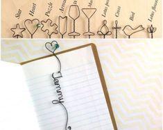 Marcador personalizado con el corazón y grano por kraze4paper
