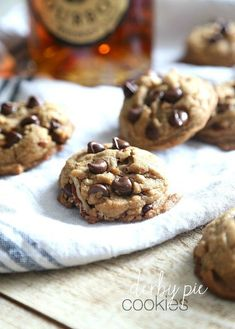 Derby Pie Cookies.. these are Browned Butter, Bourbon Pecan Chocolate Chip Cookies. SOO GOOD!