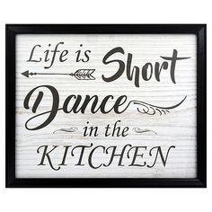 Special Moments Printed Kitchen Art in Black Plastic Photo Frames, 8x10 in.