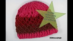 Tutorial: How to do the Lattice Hat using the Lattice Treble Cluster (LTC) - Nicki's Homemade Crafts Caron Cake Crochet Patterns, Chunky Knitting Patterns, Crochet Designs, Crochet Beanie Hat, Knitted Hats, Crochet Hats, Ribbed Crochet, Slouchy Hat, Crochet Videos