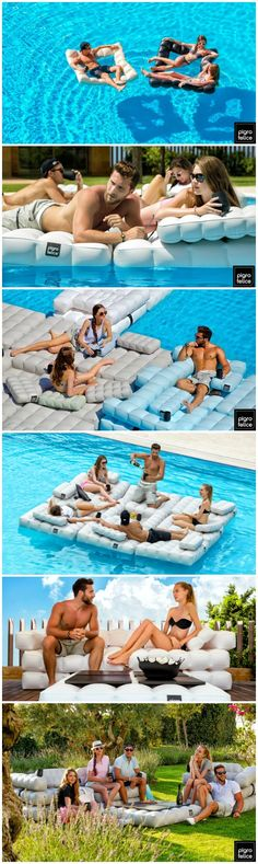 Pigro Felice - Inflatable furniture that is perfect for inside and outside the pool. #affiliate