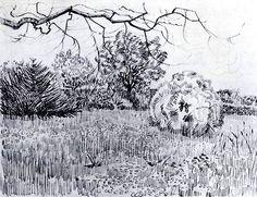 VincentWillemvanGogh Park at Arles, 1889