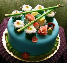 I think I need a sushi cake for my next birthday, and of course real sushi would be nice beforehand!