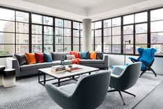 Workshop/APD Brings an Artsy, Urbane Touch to an Apartment Overlooking New York City's High Line Feature Interior Design Magazine, Best Interior Design, Living Room Seating, Architecture, Decoration, Luxury Homes, Living Spaces, Living Rooms, Apartments