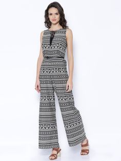 46f36392504b Buy Fusion Beats Black Printed Jumpsuit online. College WearWestern Wear  For WomenPrinted ...