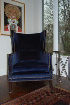 velvet navy chair - Google Search