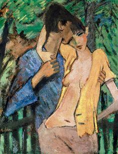 Artist painter expressionist and printmakerGerman Otto Mueller or Müller 1874 – 1930, Um 1927.