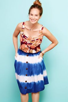 Shibori Stripe Skirt #Anthropologie WHIT #WhitneyPozgay