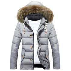 2019 Fashion Casual Warm Windproof Large Size Outwear OMINA Mens Check Parka Winter Coats 3XL
