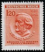 Wagner on a German postage stamp