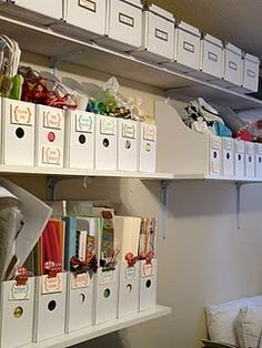 Great closet of organization!