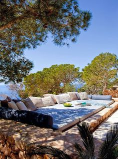 A Stunning Sea View Villa On Formentera Spain - Lounge Seating - Ideas of Lounge Seating Outdoor Rooms, Outdoor Living, Outdoor Decor, Indoor Outdoor, Outdoor Lounge, Rustic Outdoor, Outdoor Cinema, Outdoor Daybed, Outdoor Seating