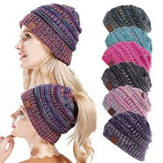 18 Knitted Style Clothes And Accessories Perfect For 2018 Autumn. Ponytail  BeanieBeanie ... de6defe96258