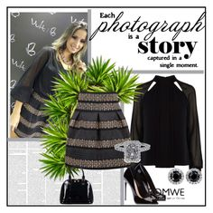 """Black Skirt - Contest"" by ramiza-rotic ❤ liked on Polyvore featuring Karen Millen and Relaxfeel"