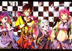 Anime No Game No Life Jibril (No Game No Life) Shiro (No Game No Life) Sora (No Game No Life) Stephanie Dola Papel de Parede