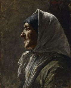 Study Head (Old Woman) // by William Forsyth