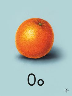 O is for orange Art Print by Ladybird Books at King & McGaw #Letter…