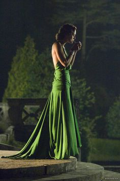 That stunning green dress from Atonement, designed by costume designer Jacqueline Durran.