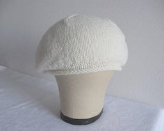 Merino Wool Beret in Winter White. Hand Knit by YouNeedMoreFiber Wool Berets, Neck Warmer, Winter White, Merino Wool, Hand Knitting, Classic Style, Fiber, Comfy, Country