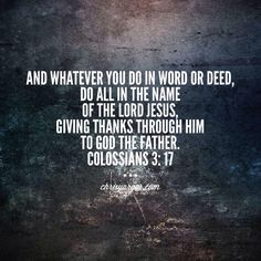 When U do what U do Unto the Lord ... in His Name ...this is = to Worship.  Add Thanksgiving & now U have poistioned yourself 4 Kingdom Abundant Life Jn 10:10 amp
