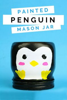 The cute, Antarctic animal was the inspiration for my newest painted animal mason jar. In this tutorial, I am showing you how easy it is to create your own painted penguin mason jar! Diy Crafts For Tweens, Craft Activities For Kids, Diy Crafts To Sell, Diy For Kids, Sell Diy, Kids Crafts, Mason Jar Crafts, Mason Jar Diy, Diy Jars