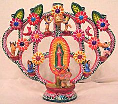 Tree of Life Mexico inspired candleholder